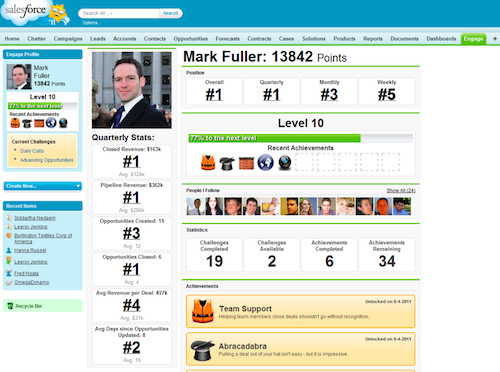 Salesforces gamification