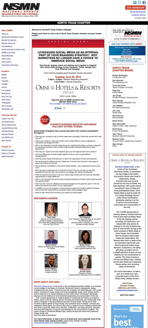 National Sports Marketing Network (NSMN) - North Texas Chapter