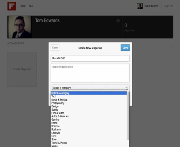 BlackFin360 Flipboard Editor