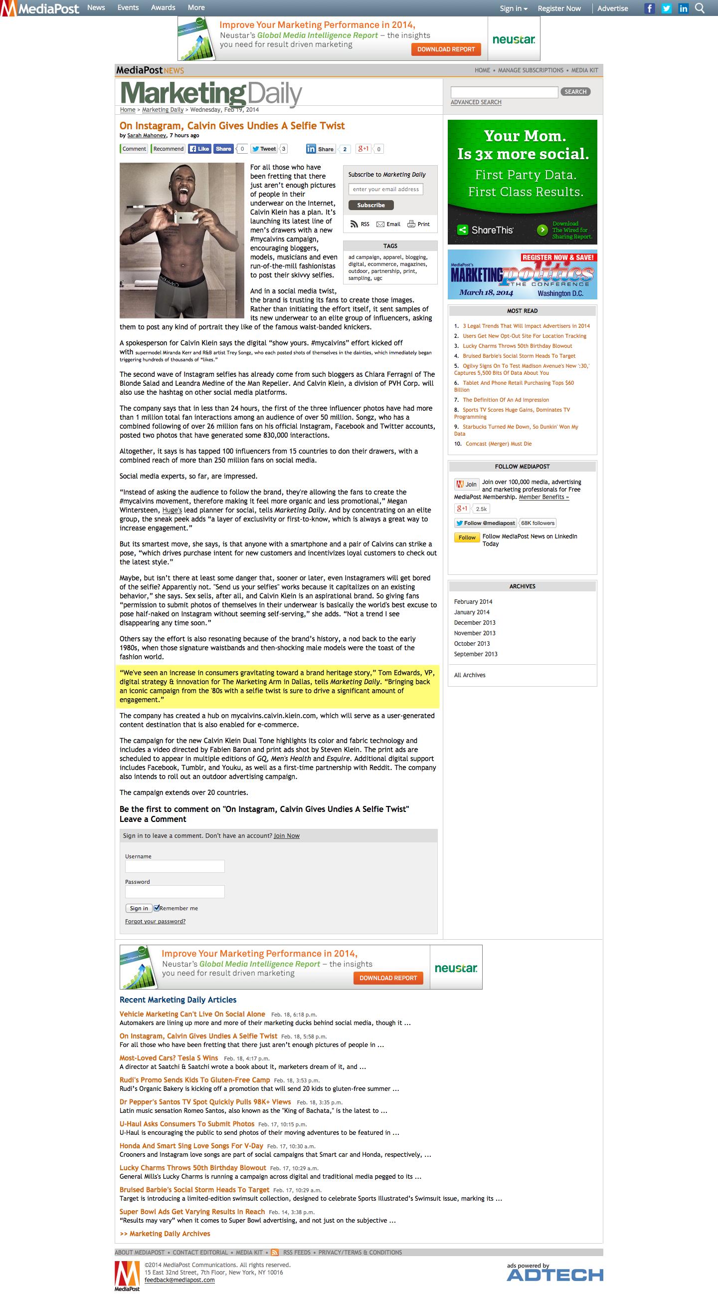 Marketing Daily & #MyCalvins BlackFin360 - Innovation To Reality