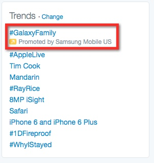 Samsung - Promoted Trend