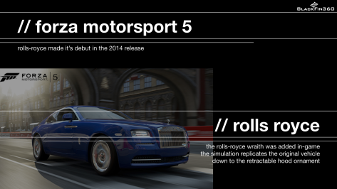 Advergame - Forza - Rolls Royce