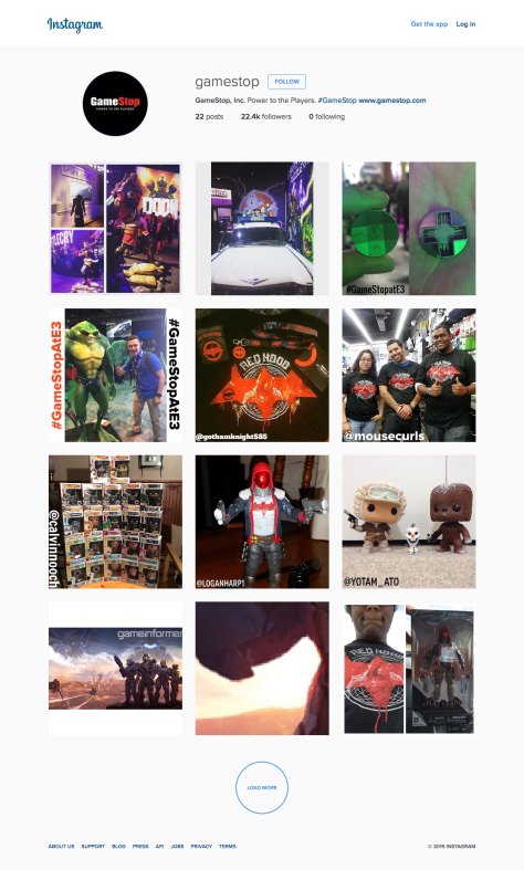 GameStop, Inc. Instagram photos