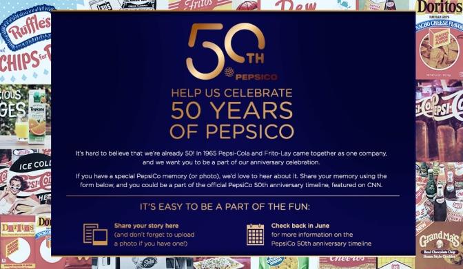 PepsiCo's 50th Anniversary Milestone Strategy