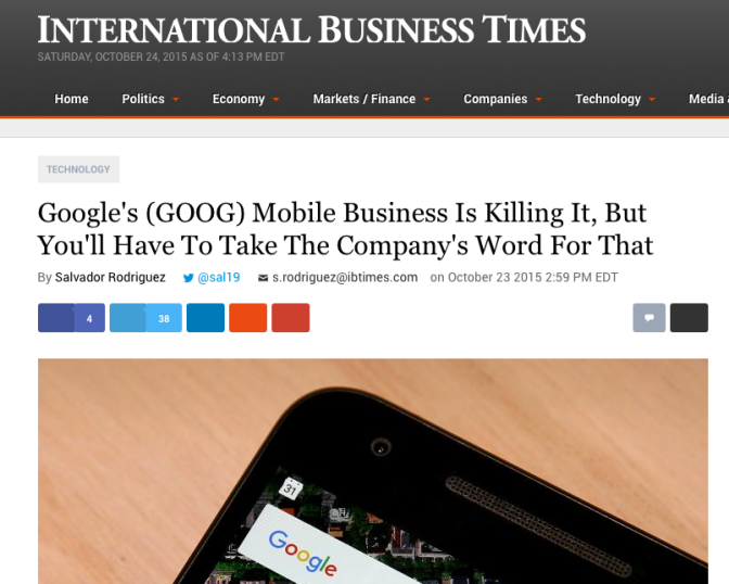 International Business Times, Alphabet & Google
